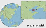 "Savanna Style Location Map of the area around 38°36'25""N,119°55'30""E"