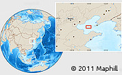 """Shaded Relief Location Map of the area around 38°36'25""""N,119°55'30""""E"""