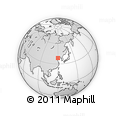 """Outline Map of the Area around 38° 36' 25"""" N, 119° 55' 30"""" E, rectangular outline"""