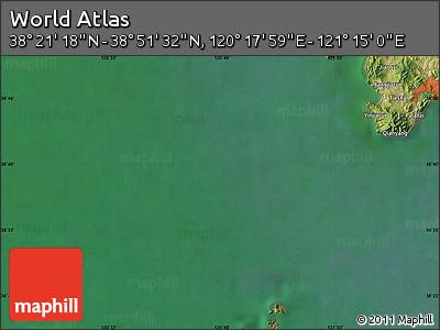 "Satellite Map of the Area around 38°36'25""N,120°46'30""E"