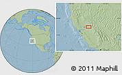 Savanna Style Location Map of Bryants, hill shading