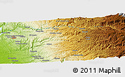 Physical Panoramic Map of Frenchtown