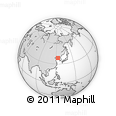 """Outline Map of the Area around 38° 36' 25"""" N, 123° 19' 29"""" E, rectangular outline"""