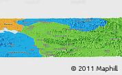 Political Panoramic Map of Sariwŏn