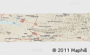 Shaded Relief Panoramic Map of Sariwŏn