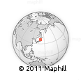 Outline Map of Higashine, rectangular outline