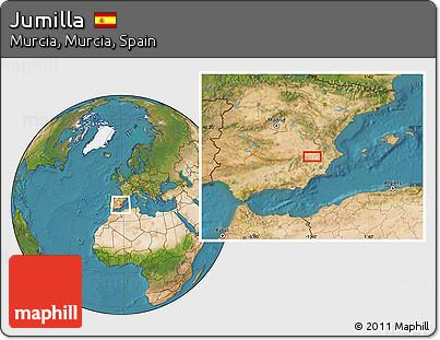 Free Satellite Location Map Of Jumilla