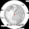 Outline Map of Jumilla, rectangular outline