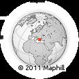 Outline Map of Delphi, rectangular outline