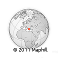 """Outline Map of the Area around 38° 36' 25"""" N, 23° 1' 29"""" E, rectangular outline"""