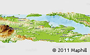 """Physical Panoramic Map of the area around 38°36'25""""N,23°1'29""""E"""