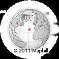 Outline Map of Angra Do Heroísmo, rectangular outline