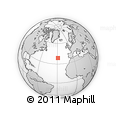 Outline Map of Faial Island, rectangular outline