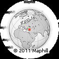 Outline Map of Cappadocia Turkey, rectangular outline