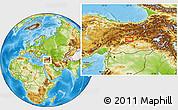 Physical Location Map of Elazığ