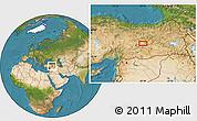Satellite Location Map of Elazığ