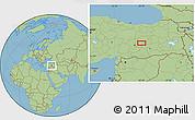 Savanna Style Location Map of Elazığ