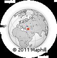 Outline Map of Elazığ, rectangular outline
