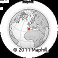 Outline Map of Valdepeñas, rectangular outline