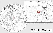 Blank Location Map of Muş