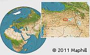 Satellite Location Map of Muş