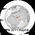 Outline Map of Muş, rectangular outline