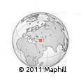 Outline Map of Bozgūsh, rectangular outline