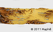 Physical Panoramic Map of Bozgūsh