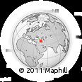 Outline Map of Marand, rectangular outline