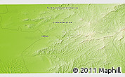"""Physical 3D Map of the area around 38°36'25""""N,55°19'30""""E"""