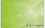 """Physical Map of the area around 38°36'25""""N,55°19'30""""E"""