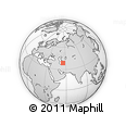 """Outline Map of the Area around 38° 36' 25"""" N, 55° 19' 30"""" E, rectangular outline"""