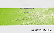 """Physical Panoramic Map of the area around 38°36'25""""N,55°19'30""""E"""