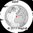 Outline Map of Almadén, rectangular outline