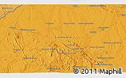 Political 3D Map of Almendralejo