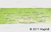 Physical Panoramic Map of Corchuela