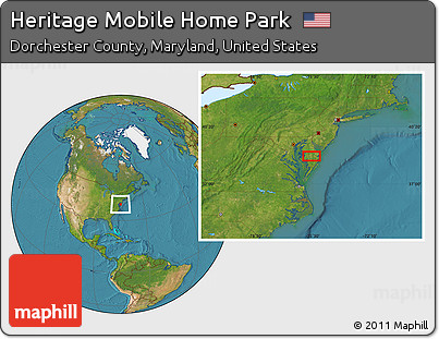 Satellite Location Map Of Heritage Mobile Home Park