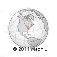 Outline Map of Luray, rectangular outline