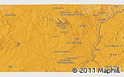 Political 3D Map of Monte do Falcato