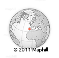 """Outline Map of the Area around 38° 36' 25"""" N, 7° 34' 30"""" W, rectangular outline"""