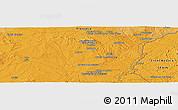 Political Panoramic Map of Évora