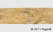 Satellite Panoramic Map of Évora