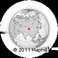 Outline Map of A'erjin Shan, rectangular outline