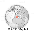 """Outline Map of the Area around 38° 36' 25"""" N, 8° 34' 29"""" E, rectangular outline"""