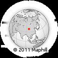 Outline Map of Dageda, rectangular outline