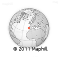 Outline Map of Palmela, rectangular outline