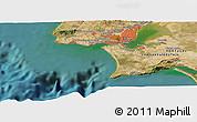 "Satellite Panoramic Map of the area around 38°36'25""N,9°16'30""W"