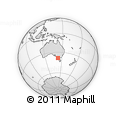 Outline Map of Warrnambool, rectangular outline