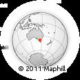 Outline Map of Frankston, rectangular outline