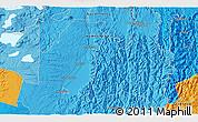 Political 3D Map of Kawerau